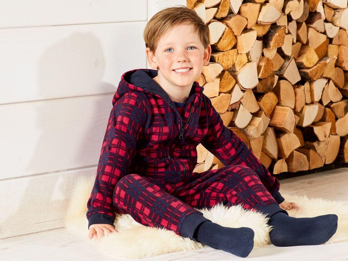 Bild 3 von LUPILU® Kleinkinder Jungen Fleece-/Plüschoverall
