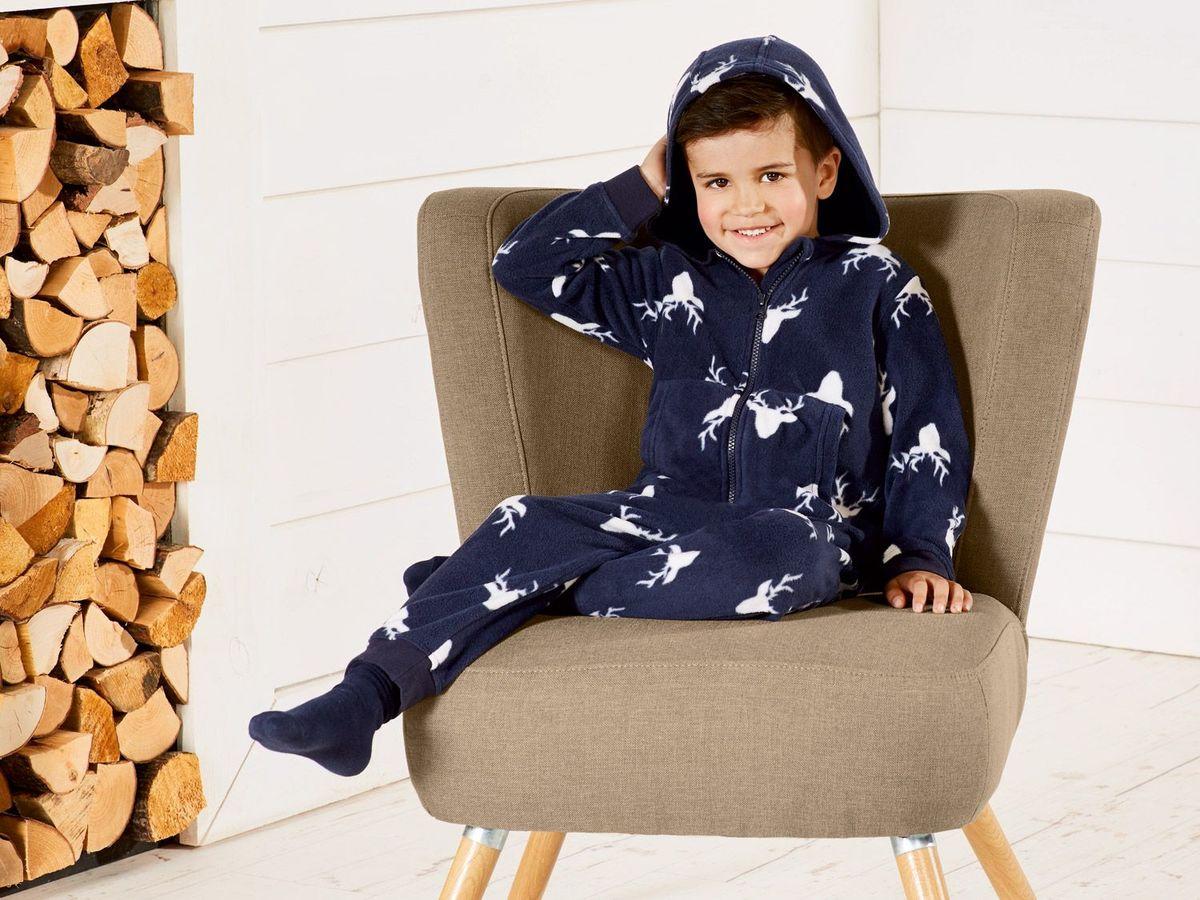 Bild 5 von LUPILU® Kleinkinder Jungen Fleece-/Plüschoverall