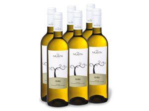 6 x 0,75-l-Flasche Weinpaket MUSITA Grillo DOC Sicilia, Weißwein