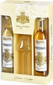 Grappa Prosecco & Grappa Invecchiata + Gratis Glas 2x200ml