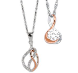 SARA & KATE 925er-Sterlingsilber-Halskette