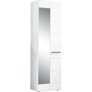 Garderobenschrank Derby Hochglanz Weiß Nachbildung ca. 60 x 198 x 35 cm