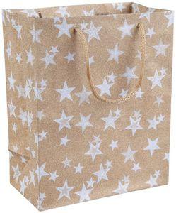 Geschenktasche - Sterne - aus Papier - 20 x 11 x 25 cm