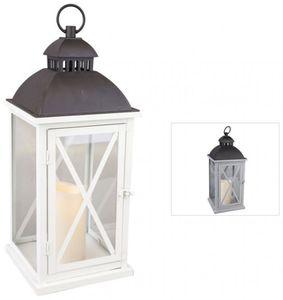 Laterne mit LED-Kerze - aus Metall - 20 x 20 x 47,5 cm - 1 Stück