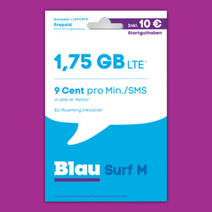 Blau Surf M oder Blau 9 Cent Tarif