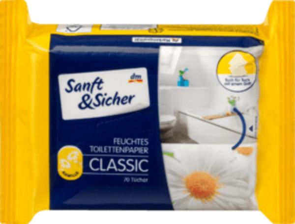 Sanft&Sicher Feuchtes Toilettenpapier Classic Kamille Nachfüllpackung