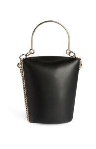 Schwarze, zylinderförmige Tasche