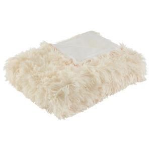 Kuscheldecke Fluffy Weiß 130x180 cm