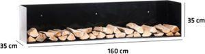 CLP Kaminholz-Halter MENDEL V2 aus Metall I Kaminholz-Regal zur Wandmontage I Kaminholzständer in stabiler Konstruktion