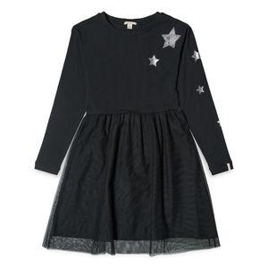Esprit Mädchen Kleid mit Tüllrock, schwarz, S