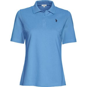 U.S. POLO ASSN. Damen Polo-Shirt, blau, XXL