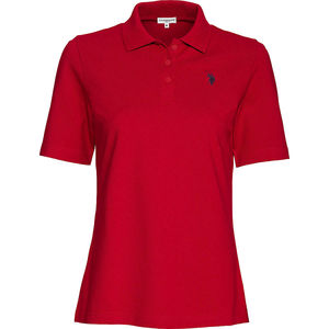U.S. POLO ASSN. Damen Polo-Shirt, rot, XXL