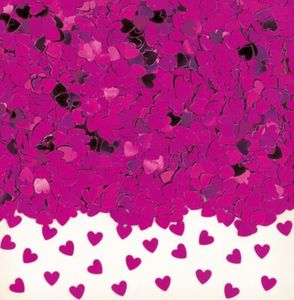 Konfetti Sparkle Hearts, pink