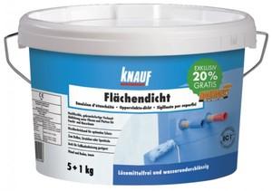 Knauf Flächendicht 5 kg, gebrauchsfertige, wasserdichte, elastische Absperrung von Untergründen und ,  5 kg