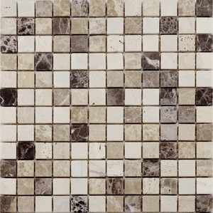Marmormosaik NATURA ,  braun-beige, 30,5 x 30,5 x 0,8 cm