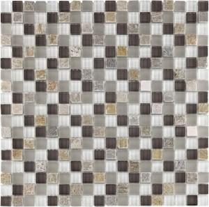 Glas-/Natursteinmosaik RUSTICA MINI ,  beige-grau, 29,8 x 29,8 x 0,8 cm
