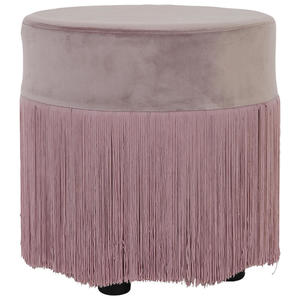 XXXL HOCKER Velours Rosa