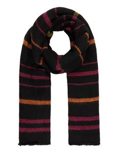 Damen Schal mit eingestricktem Streifenmuster