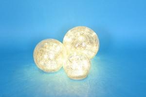 TrendLine Glaskugeln 3-Set mit Beleuchtung ,  silber