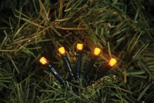 TrendLine LED Lichterkette mit 200 LED ,  gelb, für innen und außen