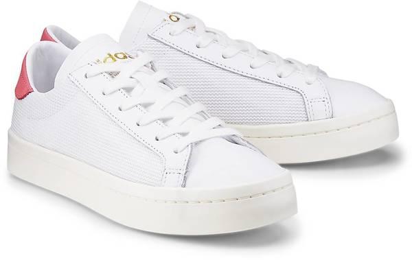 Sneaker Courtvantage von Adidas Originals in weiß für Mädchen. Gr. 36 2/3,38,41 1/3,43 1/3