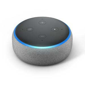 Amazon Echo Dot 3. Generation Smart-Speaker mit Alexa, Hellgrau Stoff
