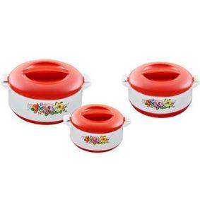KING Thermobehälter, 3 Stück, »PREMIUM RED« (600, 1000, 1500 ml)