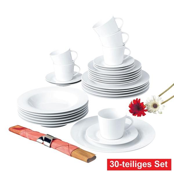 retsch arzberg Kaffee- und Tafelservice 30 teilig CLASSICO Weiß