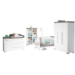 Paidi Babyzimmer KIRA Kreideweiß/Eiche Nautik Nachbildung