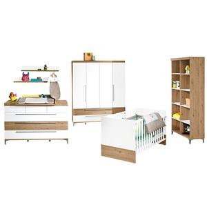 Paidi Babyzimmer REMO Kreideweiß/Bordeaux Eiche Nachbildung