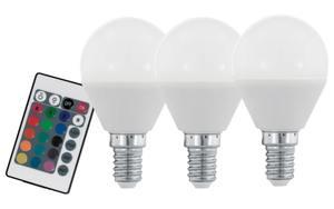 Eglo - LED-Leuchtmittel 4W / E14 RGBW, 3er-Set
