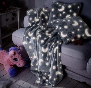 Home Kuscheldecke mit leuchtenden Sternen, ca. 150x200cm