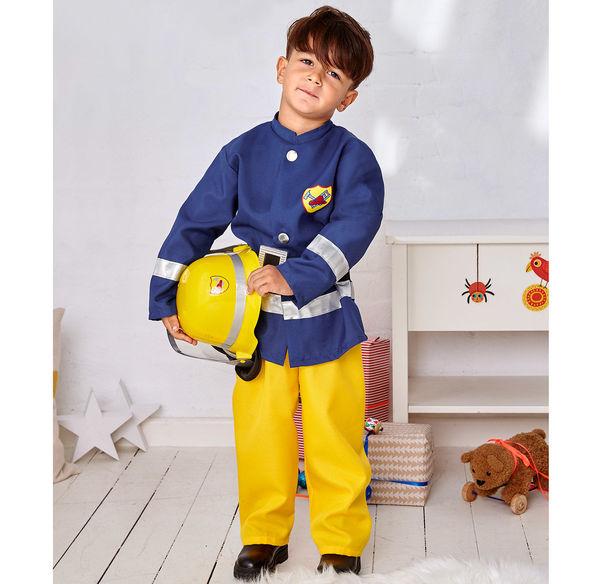 Kinderkostüm Feuerwehrmann mit Gürtel