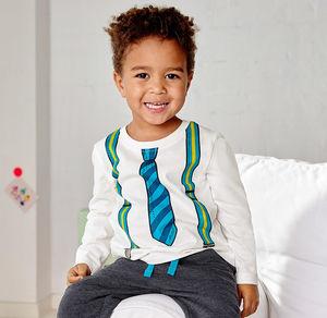 Liegelind Baby-Jungen-Shirt mit Krawatten-Aufdruck