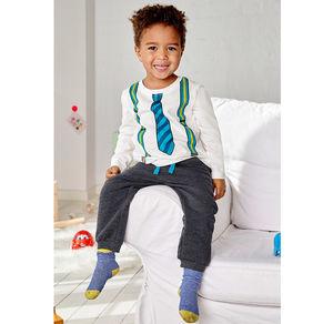 Liegelind Baby-Jungen-Jogginghose in trendiger Melange-Optik