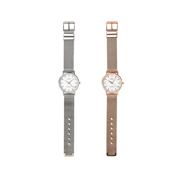 Damen-Armbanduhr mit Metallarmband