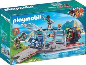 PLAYMOBIL 9433 Propellerboot mit Dinokäfig