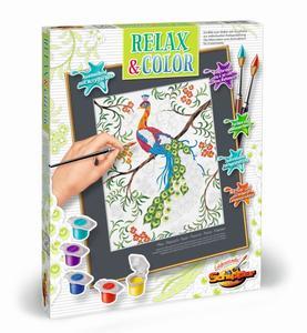 Malen nach Zahlen Relax + Color Pfau