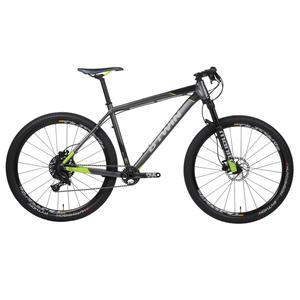 Mountainbike Rockrider 900 27,5 hellgrau/neongelb