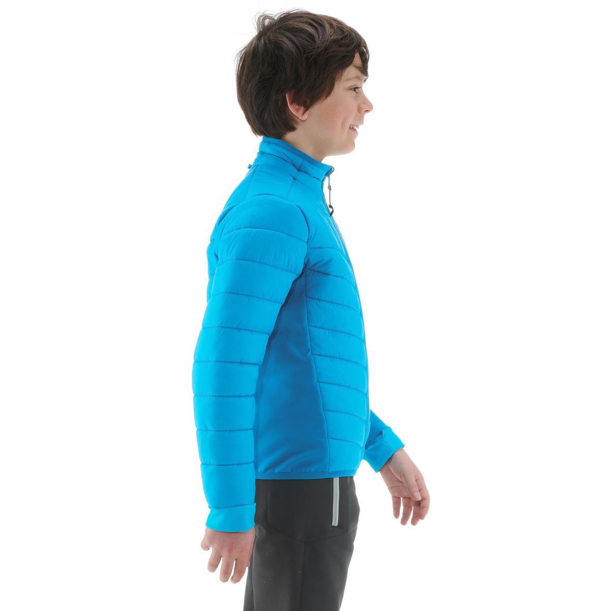 Bild 3 von Hybridjacke Winterwandern SH500 X-Warm Kinder blau