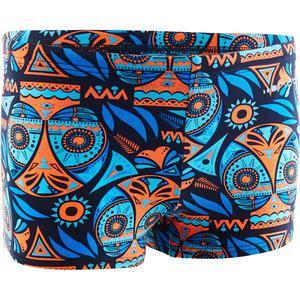Badehose Boxer 500 Print All Owla Jungen orange