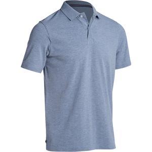 Golf Poloshirt 500 Kurzarm Herren grau meliert