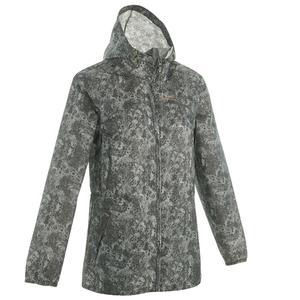 Regenjacke Raincut Zip Damen grau