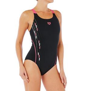 Badeanzug Keila Damen schwarz/rosa
