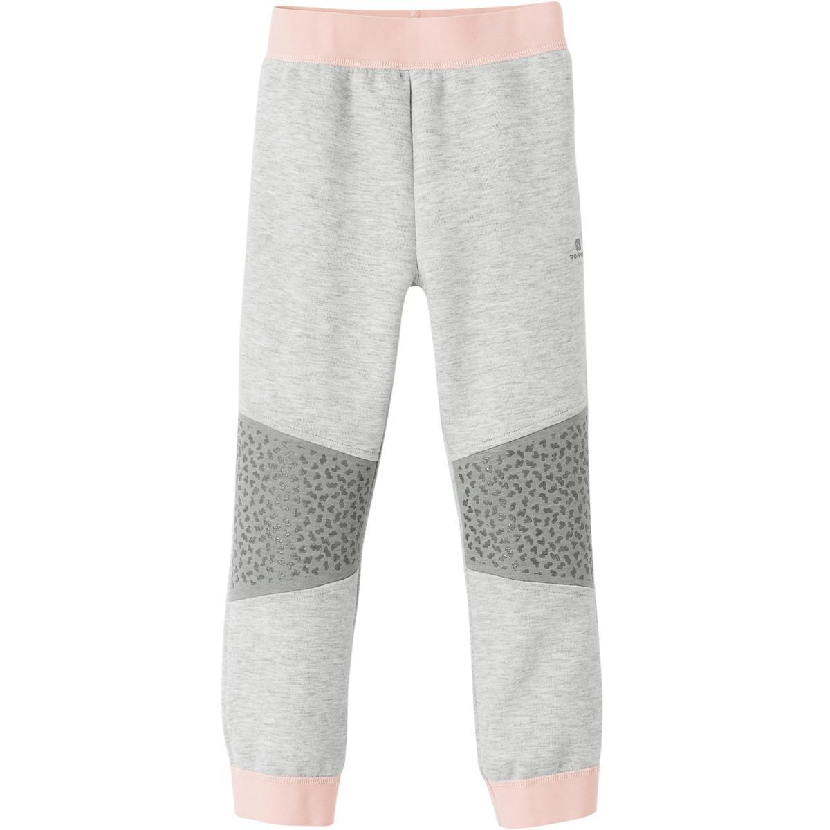 Bild 2 von Jogginghose 500 Babyturnen grau/rosa