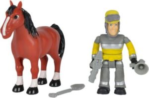 Feuerwehrmann Sam - Tierrettung Figuren Set Sam + Pferd