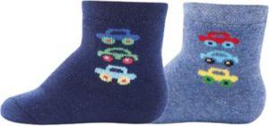 Baby Socken Doppelpackmit Innenplüsch, , Autos Gr. 27-30 Jungen Kinder