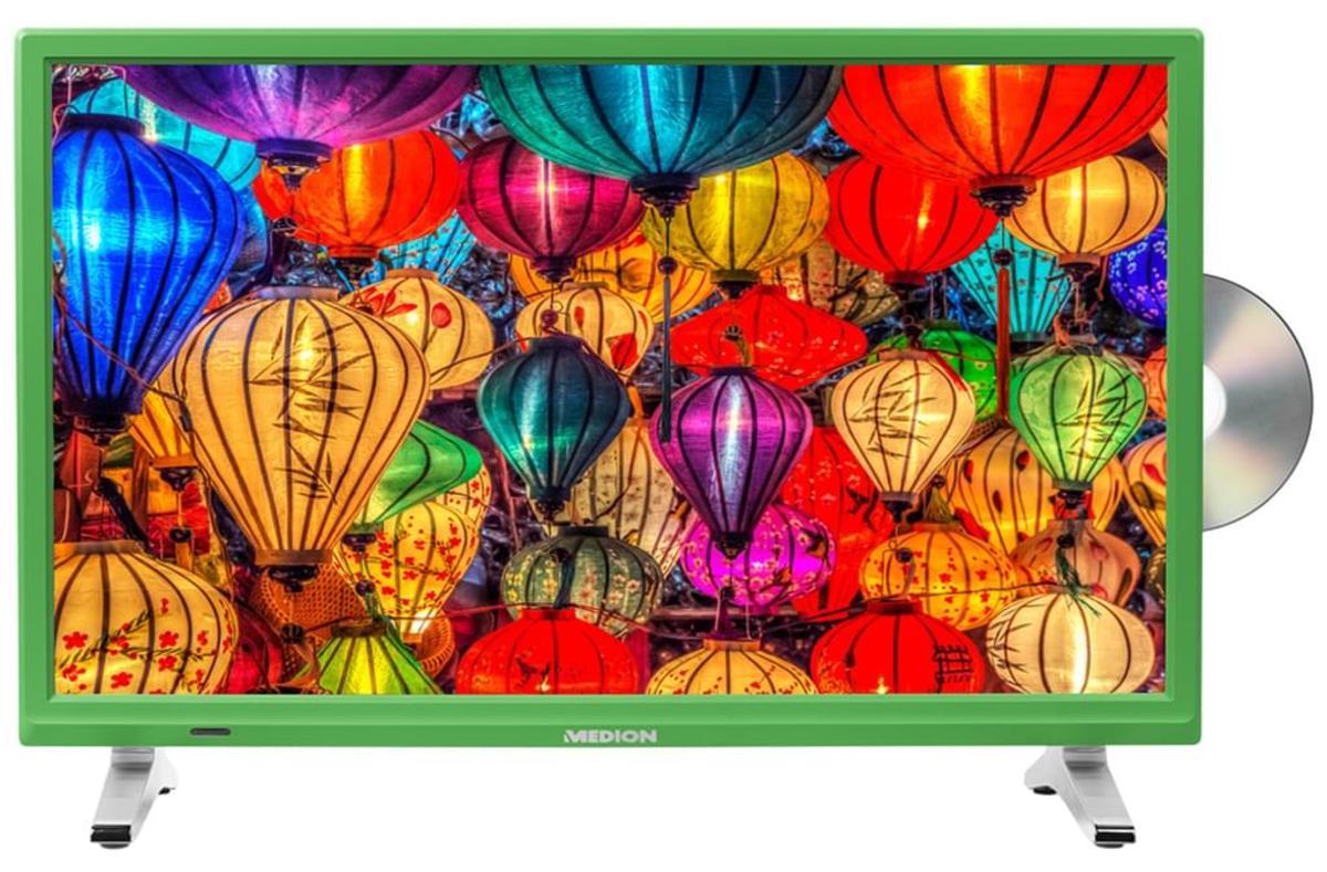 Bild 2 von Medion Life P12501 Full HD LED 54,6 cm (21,5 Zoll) inklusive DVD Player, Triple Tuner, Grün