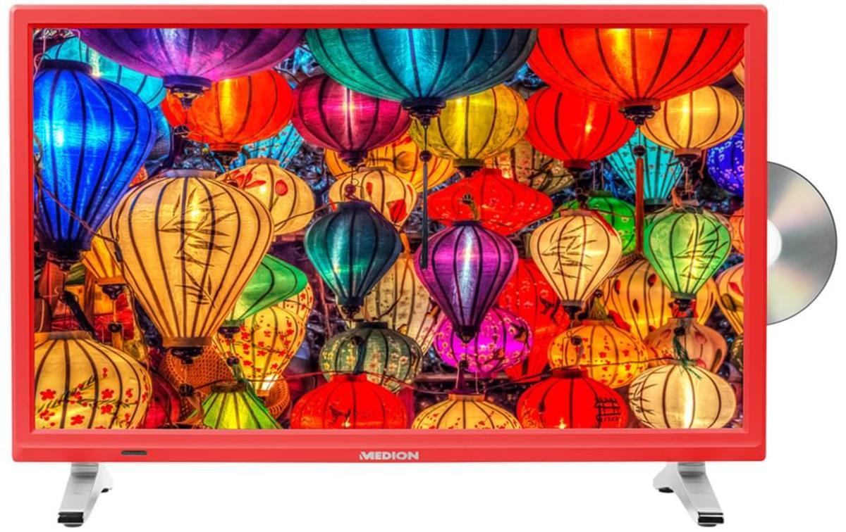 Bild 2 von Medion Life P12501 Full HD LED 54,6 cm (21,5 Zoll) inklusive DVD Player, Triple Tuner, Rot