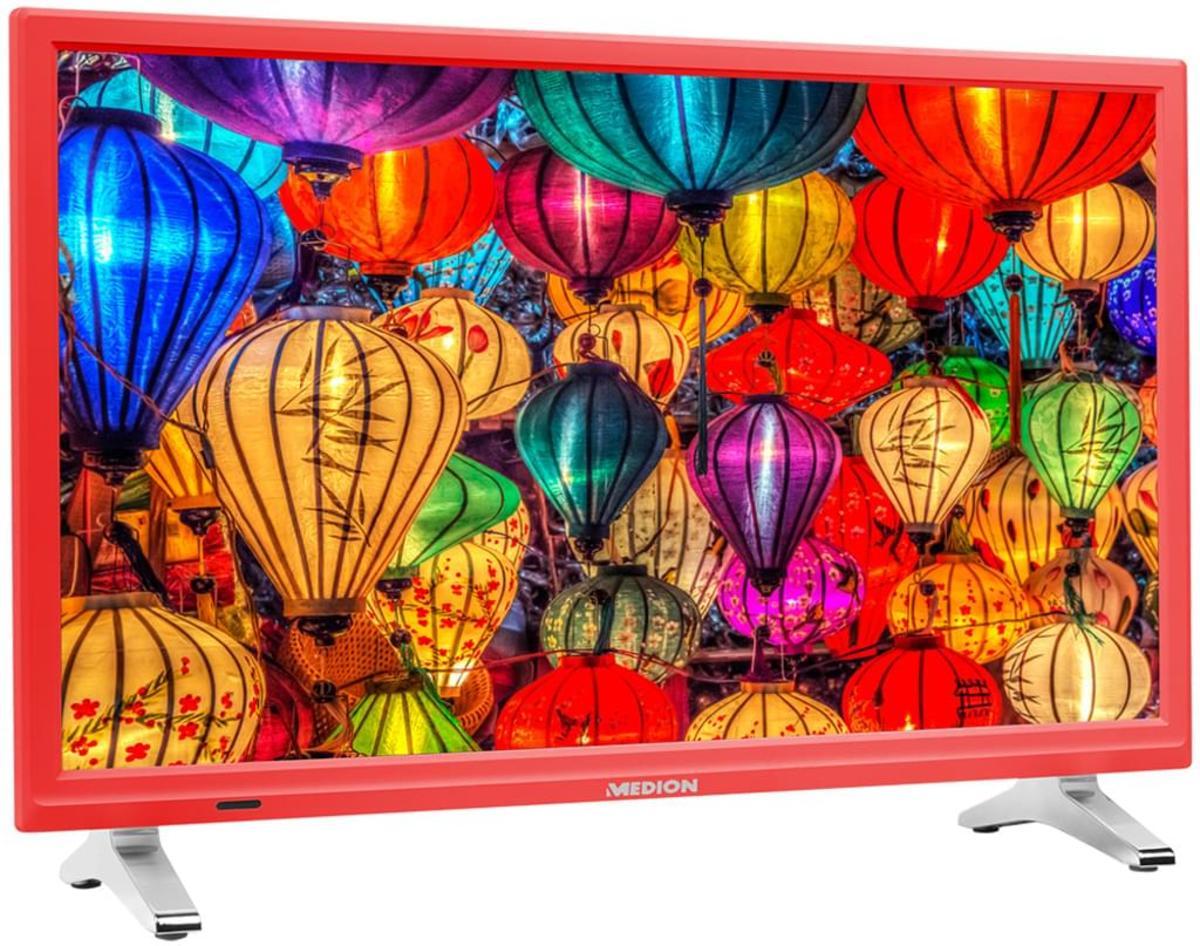 Bild 3 von Medion Life P12501 Full HD LED 54,6 cm (21,5 Zoll) inklusive DVD Player, Triple Tuner, Rot